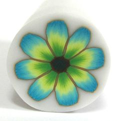Polymer Clay Flower cane  Millefiori Green Yellow by sigalsart, $6.90