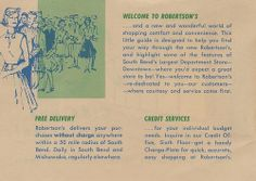 A circa pamphlet featuring the new layout of Robertson's Department Store in South Bend, Indiana South Bend, Welcome, Wonders Of The World, Indiana, Finding Yourself, Childhood, Infancy, Childhood Memories