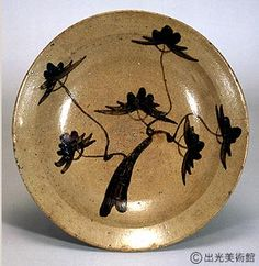 E-Karatsu Large Plate with Pine decoration