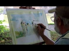 Plein air painting tutorial 8 art painting outdoors couldn t be plein air will your art last 3 potential plein air painting which paint to … Watercolor Video, Watercolor Painting Techniques, Watercolour Tutorials, Painting Lessons, Watercolor Landscape, Painting & Drawing, Watercolor Paintings, Watercolours, Urban Gardening