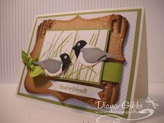 Stampin' Up!  Bird Punch  Diana Gibbs  Chickadee