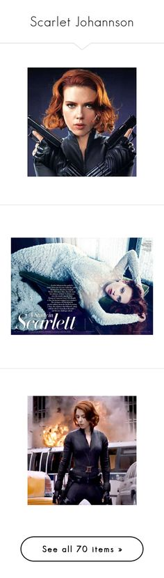 """Scarlet Johannson"" by emma-frost-98 ❤ liked on Polyvore featuring marvel, avengers, black widow, natasha romanoff, delete, editorials, scarlett johansson, people, characters and dolls"
