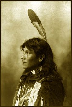 Young warrior Standing Elk, the son of Big Elk an Omaha Principal Chief. Photograph: 1898.