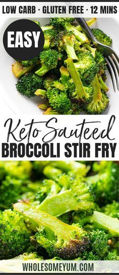 Sauteed Broccoli Stir Fry Recipe With Garlic - The BEST method for how to make sauteed broccoli with garlic - less than 15 minutes! Pan fried broccoli stir fry needs just 3 ingredients and makes the perfect side dish. recipes for two recipes fry recipes Pan Fried Broccoli, Garlic Broccoli, Broccoli Stir Fry, How To Cook Broccoli, Brocolli, Garlic Recipes, Stir Fry Recipes, Vegetable Recipes, Cooking Recipes