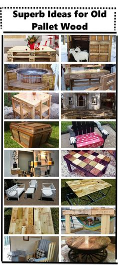 Superb Ideas for Old Shipping Pallet Wood - Old Pallets, Pallets Garden, Wooden Pallet Projects, Pallet Wood, Pallet Ideas, Custom Woodworking, Woodworking Projects Plans, Simple Furniture, Diy Furniture