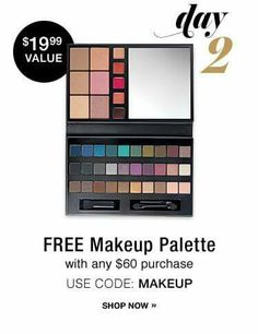 12 DEALS OF CHRISTMAS ALERT! Get a FREE Makeup pallette with your $60 order using code: MAKEUP.  www.youravon.com/atodd #12DealsOfChristmas   #Avon #freewithpurchase #skincare #makeup #mascara #wideawake #lipliner #glimmersticks #truecolor #eyeshadow #eyeliner #beyondcolor #lipstick #beYOUtiful #fashion #bathandbody #beauty #costmetics #style #beautyproducts #sale #freeshipping