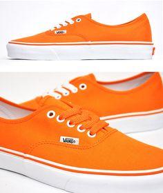 Vans Neon Orange - I freakin' love these