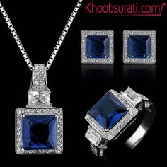 #Online_Shopping #Shopping_Online @ Khoobsurati.com Get This Blue Colored Lady #Jewelry_Set http://khoobsurati.com/pdt/jewelora/jewelora-blue-colored-lady-jewelry-set