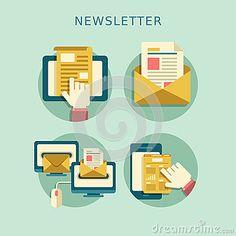 Flat design concept of newsletter by Kchungtw, via Dreamstime