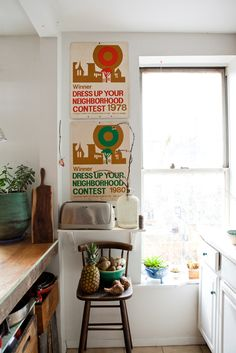 no rules! counter half in front of window?...okay! crates for drawers?... okay!