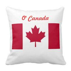 O' Canada Flag Throw Pillow