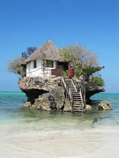 A restaurant on the rocks, Tanzania,the Indian Ocean!