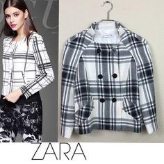 Zara jacket Zara plaid jacket 100% viscose fully lined size small like new no damages $129 Zara Jackets & Coats