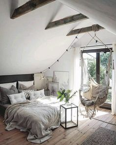 Scandinavian Bedroom Design Scandinavian style is one of the most popular styles of interior design. Although it will work in any room, especially well . Scandinavian Bedroom, Cozy Bedroom, Bedroom Inspo, Scandinavian Design, Design Bedroom, Bedroom Bed, Bedroom Romantic, Modern Bedroom, Bedroom Inspiration