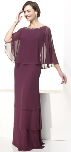 Wholesale Cheap Engaging Column Fancy Burgundy Floor Length Cape Mother Of Brides Dress