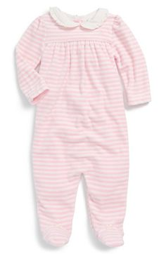 Ralph Lauren Stripe One-Piece (Baby Girls) available at #Nordstrom