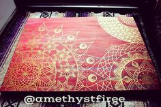 Hand painted Mandala Art 18 x 24 in canvas Oil and Acrylic $150 #mandala #artwork #Artist