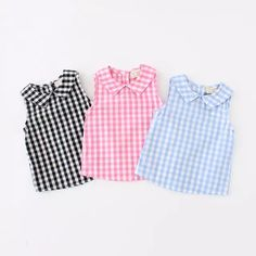 Cheap girls blouse, Buy Quality blouse baby directly from China blouse girl Suppliers: summer baby girls shirt girls plaid blouse baby cotton tops kids shirts baby shirts girls blouses 2017 new arrival drop New Fashion Summer Style Kids Baby Girl Shirts, Shirts For Girls, Kids Shirts, Baby Outfits, Kids Outfits, Baby Dress Design, Sleeveless Outfit, Girl Dress Patterns, Girls Blouse