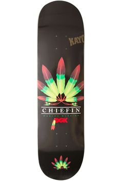 "DGK Skateboards McBride Chiefin 8.125"" Deck (black) buy at skatedeluxe"