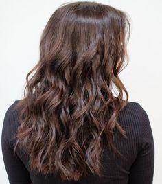 Dark+Brown+Wavy+Choppy+Haircut+