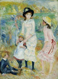 """""""Children on the Seashore, Guernsey"""" Pierre-Auguste Renoir"""