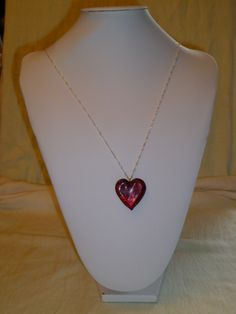 Coeur rouge en Verre