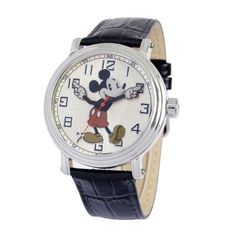 "Ewatchfactory Men's 56109 Disney ""Vintage"" Mickey Mouse Watch. I'd wear this every day."