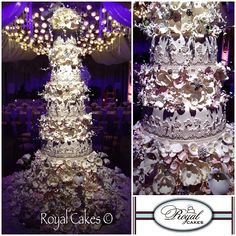 Glamorous Wedding Cake by Royal Cakes