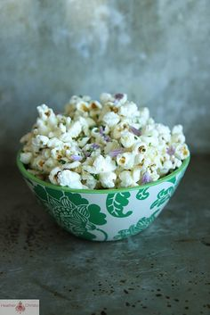 Chive and Parmesan Popcorn