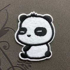 Cute panda bear patches iron on patches Cartoon patch Sew on patch bag patches