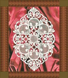 parchment craft pergamano tarjeteria photo: Framed Lace FramedLace3.jpg