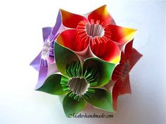 Butterfly kusudama ball origami