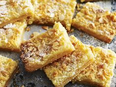 Lemon butter almond slice, almond recipe, brought to you by Australian Women's Weekly