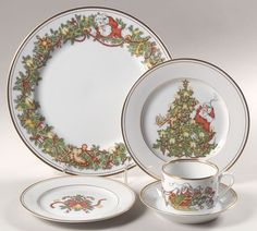 St. Nicholas by Fitz and Floyd China at Replacements, Ltd.