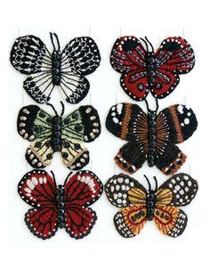 Crocheted butterflies by Kate Jenkins