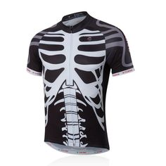 skeleton Mens Bike Jersey Short Sleeve Jacket Tops Mountain Bicycle Clothes…  Cycling Helmet f66943e88