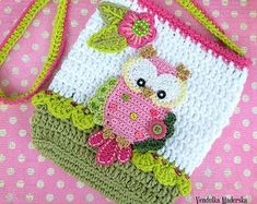 Crochet pattern - Owl purse by VendulkaM - crochet bag pattern, digital, DIY, pdf