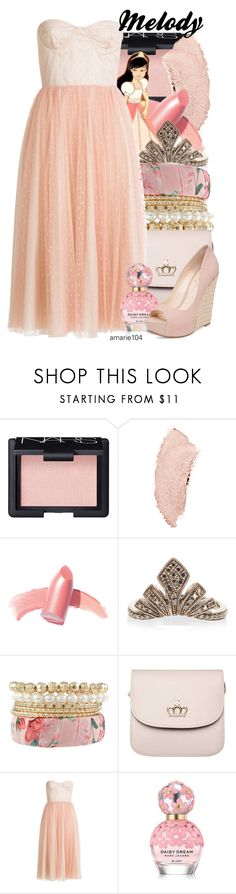 """""""Melody"""" by amarie104 ❤ liked on Polyvore featuring NARS Cosmetics, Chanel, Elizabeth Arden, Disney, JoÃ«lle Jewellery, RED Valentino, Marc Jacobs and Jessica Simpson"""