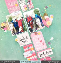 "221 Likes, 4 Comments - Hip Kit Club Scrapbooking Kits (@hipkitclub) on Instagram: ""This is so fresh!  @junglebarrya this fantastic layout with the some of the Let your Heart Decide…"""