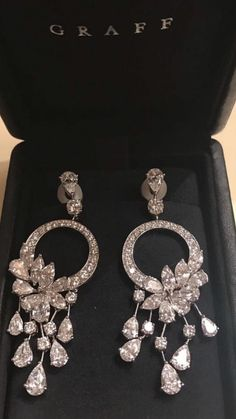 The Best elegant diamond earrings by Graff Diamonds Graff Jewelry, Jewelry Design Earrings, Ear Jewelry, Fine Jewelry, Jewellery, Swarovski Jewelry, Jewelry Holder, Designer Earrings, Jewelry Necklaces