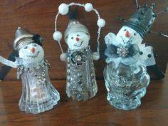 Easy salt + pepper snowmen