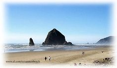 Canon Beach, Oregon  Haystack rock - just a short walk from our Condo. Beautiful sunsets, awesome storms, I want to go back!