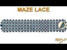 Seed Bead Jewelry Tutorials, Diy Jewellery Designs, Beaded Jewelry Patterns, Beading Tutorials, Bracelet Patterns, Lace Bracelet, Beaded Bracelets, Labyrinth, Youtube