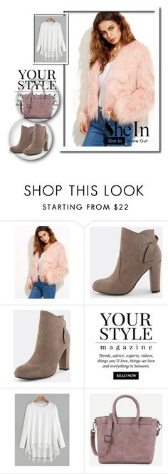 """""""4# SheIn"""" by hazreta-jahic ❤ liked on Polyvore featuring Pussycat"""