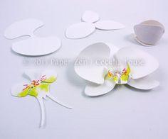Paper Zen: Paper Orchid Birthday Card