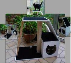 Construction d'un arbre à chat ! adaptable selon l'espace disponible... Voici un arbre à chat, fait maison, avec un plan bien détaillé que les bricoleurs (et bricoleuses) pourront facilement adapter en fonction de l'espace disponible. Une aubaine pour...