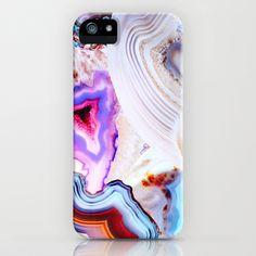 Agate, a vivid Metamorphic rock on Fire iPhone & iPod Case by Elena Kulikova - $35.00