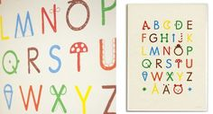Update – new alphabet art & toys from Fine Little Day