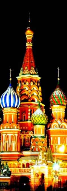 Saint Basil's Cathedral, Moscow ~ Domes of Russian churches look like ice cream cones 1m
