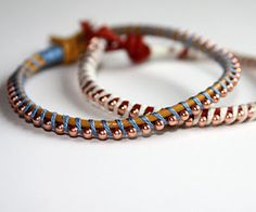 Plumber Chain Wrap Bracelet by LimeRiot.  This looks interesting and probably inexpensive to make.